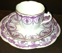 Wileman Foley Pre Shelley English Fine China Trio | eBay