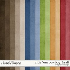 Sweet Shoppe Designs::Paper Packs::Ride 'em Cowboy Kraft by Digilicious Design