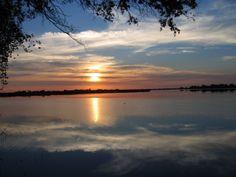 Beautiful sunrise on Guma Lagoon
