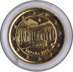 moneda conmemorativa 2 euros España 2011 Alhambra chapada oro.