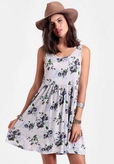 Mademoiselle Floral Babydoll Dress #threadsence #fashion