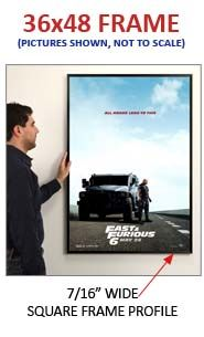 classic style movie poster frames 36x48 metal picture frame at displays4sale
