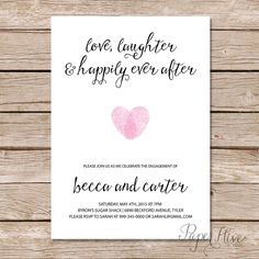 Free Printable Engagement Party Invitations Templates Pinteres