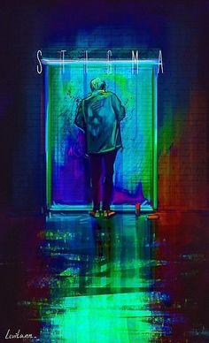 Fanart - bts: v no short film stigma bts wallpaper, jimin, Fanart Bts, Taehyung Fanart, Bts Taehyung, Look Wallpaper, Bts Wallpaper, Wallpaper Samsung, Bts V Stigma, V Wings, Vaporwave Anime
