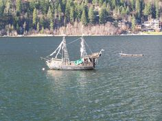 Pirate ship in Nelson, BC.  It sunk about a month after this picture.