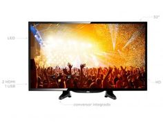 "TV LED 32"" AOC LE32H146120 - Conversor Digital 2 HDMI 1 USB"