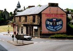Cockburn Street- Barr's Irn Bru sign.