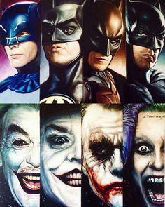 "longlivethebat-universe: ""Batman and the Joker by Ben Jeffrey """