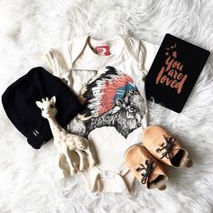 Super cool #flatlay featuring our caramel Archie Moccs by the lovely @babyboheme   We are restocking these bad boys (hurray) and they will be online by the end of the week!!   #justraybaby #softsoles #moccs #coolkids