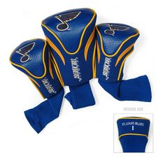 New! St. Louis Blues 3 Pack Contour Fit Headcover #StLouisBlues