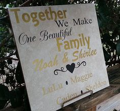 Blended Family Sign Tile Sign Personalized By FamilySignsPlus. Wedding SignsWedding  CeremonyWedding ...