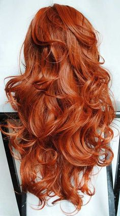 Copper Red Hair Color Style