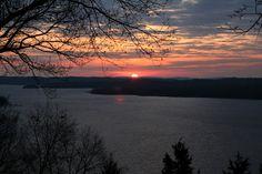 Beaver Lake at sunset.