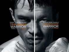 Just noticed the dual posters for Warrior. Together, gives the lopsided look of a boxer.
