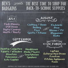 The Best Time to Shop for Back to School Supplies - @Ben's Bargains