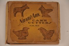 Antique Vtg Set Tin Cookie Cutter Primitive Folk Art Horse Chicken Duck Bunny   http://americantraditioncookiecutters.com/