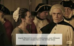 I LOVE MAJOR HEWLETT. He is by far my favorite character on TURN. Not only is he gentlemen, but he's quite possibly the nicest most compassionate person. Not to mention he's deviously handsome (even with that ridiculous wig) and his protectiveness for Anna makes him even hotter.