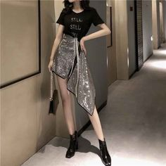 Egirl Fashion, Korean Girl Fashion, Korean Fashion Trends, Kpop Fashion Outfits, Ulzzang Fashion, Girly Outfits, Cute Casual Outfits, Stylish Outfits, Dress Outfits