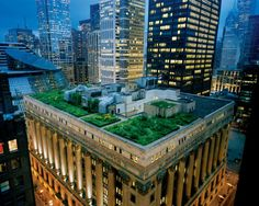 Chicage City Hall with green roof...almost looks like a mini city on the roof