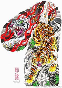 Large Collection of Tattoo фото) Samurai Tattoo Sleeve, Tiger Tattoo Sleeve, Arm Sleeve Tattoos, Tattoo Sleeve Designs, Japanese Tiger Tattoo, Japanese Dragon Tattoos, Japanese Tattoo Designs, Full Chest Tattoos, Tiger Tattoo Design