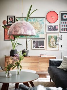 Pastel colors in an amazing Scandinvian apartment