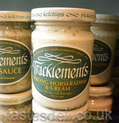 Award winning Horseradish sauce, made from Wild English horseradish. Very strong, but can be toned down with the addition of cream or fromage frais. #gta