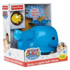 Fisher Price Spray 'N Lights Bath Whale