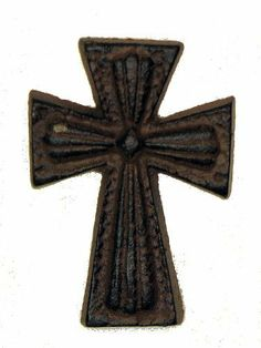 "Cast Iron Nail Cross Hardwares Home Decor by Quality. $13.00. Cast Iron Nail Cross. Measures 2""W x 2.75""H x 3/8""D"