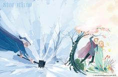 The Queen of Winter - awesome illos by Teresa Martinez - in Storytime Christmas issue out now!