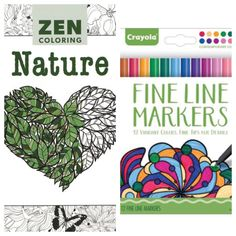 Zen Coloring Nature Adult Coloring Book with by KaysCraftSupplies