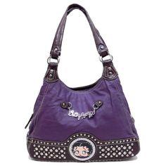 Betty Boop Emanel Metal Signature Chain Purple « Clothing Impulse