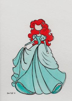 Drawing Disney Ariel Little Mermaids Disney Princess Drawings, Disney Princess Art, Disney Nerd, Disney Sketches, Disney Fan Art, Disney Drawings, Disney Girls, Drawing Disney, Princess Luna