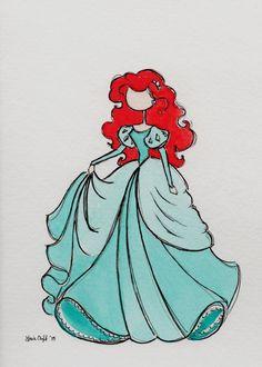 Drawing Disney Ariel Little Mermaids Disney Princess Drawings, Disney Sketches, Disney Drawings, Cute Drawings, Art Sketches, Drawing Disney, Disney Nerd, Disney Fan Art, Cute Disney