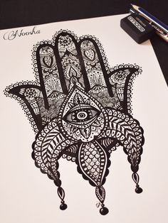 #hamsa #hamsahand #art #illustrator #illustration #painting #paint #drawing #blackandwhite --->you can follow me on instagram too. www.instagram.com/workofnoosha