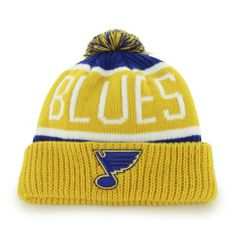 "St Louis Blues Yellow ""Calgary"" Beanie Hat with Pom - NHL Cuffed Winter Knit Toque Cap Brand 47,http://www.amazon.com/dp/B00F32WETA/ref=cm_sw_r_pi_dp_Jrz0sb1F3R36BEB8"