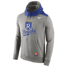 Kansas City Royals Nike Cooperstown Collection Hybrid Pullover Hoodie - Gray - $67.99