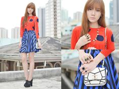 Dots & Stripes (by Camille Co) http://lookbook.nu/look/3021911-Dots-Stripes