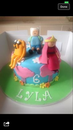 Adventure time cake bright cheerful