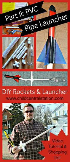 DIY PVC Pipe Rocket Launcher and File Folder Rockets Part II: PVC Pipe Launcher - Child Central Station