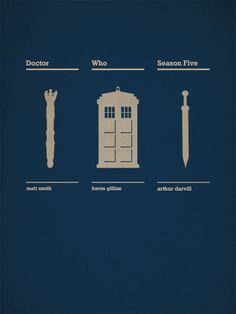 Poster: Doctor Who Poster Doctor Who, Doctor Who Season 5, Minimal Movie Posters, Minimal Poster, Tv Doctors, Don't Blink, Blue Box, Time Lords, Geek Out