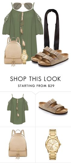 """""""Native"""" by officially-beautiful ❤ liked on Polyvore featuring WearAll, Birkenstock, MICHAEL Michael Kors, Michael Kors and SELECTED"""