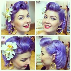 Love vintage hairstyles and want to add some sexy look? Well, Retro hairstyles are super best option for you, discover 10 Amazing Retro Hairstyles for you. Retro Hairstyles, Curled Hairstyles, Wedding Hairstyles, Unique Hairstyles, Pelo Vintage, Look Rockabilly, Estilo Pin Up, Look Retro, Pin Up Hair