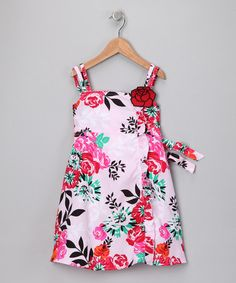 Take a look at this Pink Rose Dress - Girls by Longstreet on #zulily today!