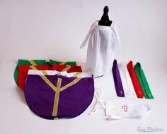 Miniature Catholic Priest Vestments