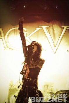 Andy Biersack of Black Veil Brides in Augusta, GA