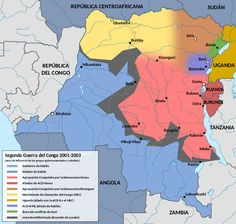 Second Congo War 2001 map vector-es - Segunda Guerra del Congo - Wikipedia, la enciclopedia libre