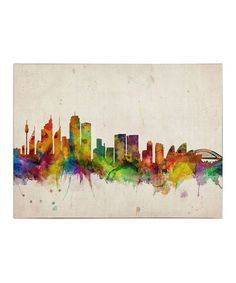Take a look at this Sydney Skyline Gallery-Wrapped Canvas by Michael Tompsett on #zulily today!