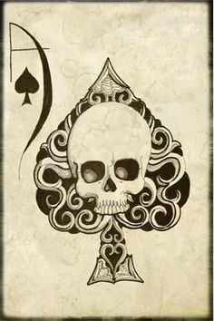 Items similar to Ace of Spades - Skull Cross Stitch, Modern Cross Stitch Kit, Shayne of the Dead Art, ' Ace , Skull Needlecraft kit on Etsy Tattoo Voodoo, La Santa Muerte Tattoo, Totenkopf Tattoos, Ace Of Spades, Desenho Tattoo, Skull Tattoos, Goth Tattoo, Sick Tattoo, Tattoo Art