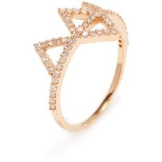 Amrapali Diamond Tiara Ring in Rose Gold ($775) ❤ liked on Polyvore featuring jewelry, rings, no color, red gold ring, 18k diamond ring, 18 karat gold ring, diamond rings and round cut diamond rings