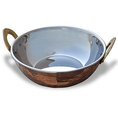 Indian Copperware Serving Karahi Handmade Tableware Pan: Amazon.co.uk: Kitchen & Home